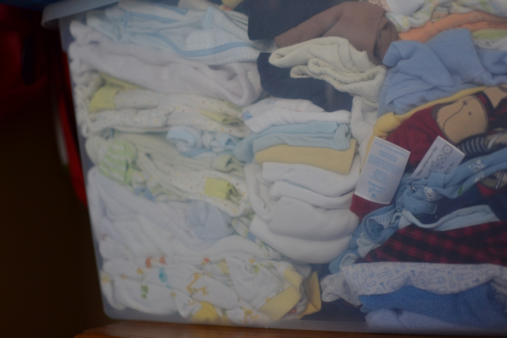 Stored baby clothes
