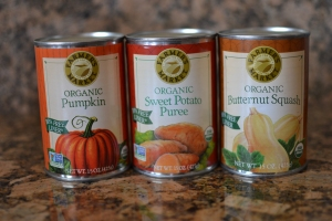 Canned baby food purees