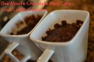 one minute chocolate cake
